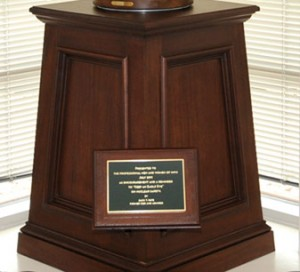 INPO Pedestal City of Roswell GA by Handmade Custom Woodwork