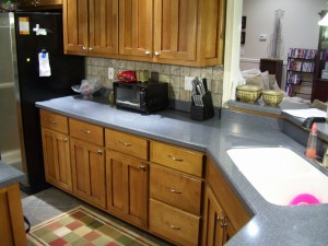 grey countertops kitchen remodel by hmcwoodwork.com atlanta