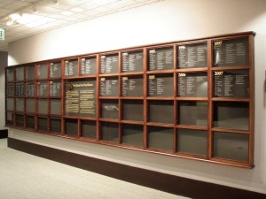 City of Roswell GA Wall of Excellence by Handmade Custom Woodwork