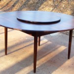 Round wood table by top Atlanta carpenter Kelvin Williams