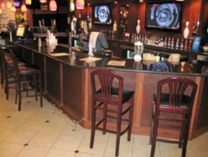 Junction Lanes Bar & BIlliard Custom Wood Bar by HMCWoodwork