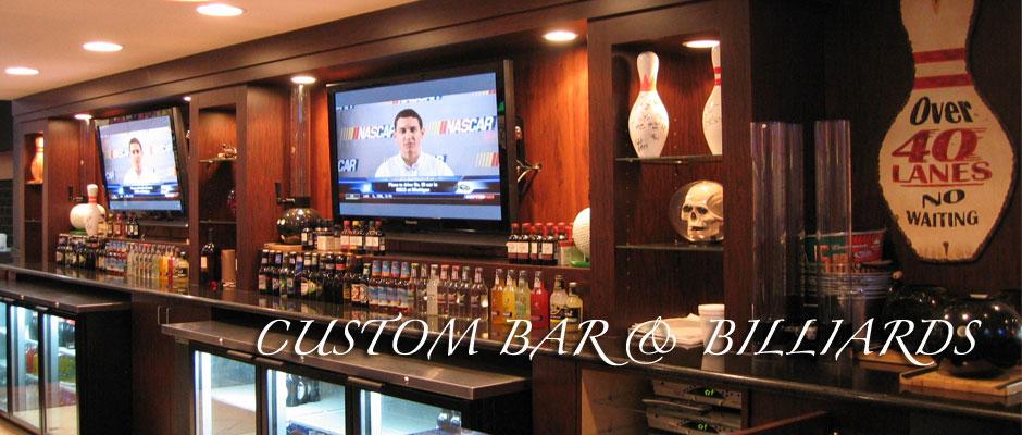 Custom Commercial Bar by Handmade Custom Woodwork