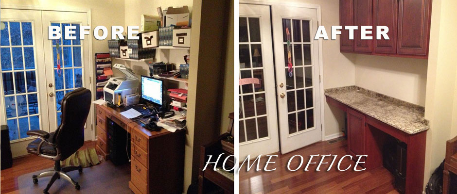 Office remodel by Handmade Custom Woodwork
